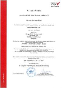 thumbnail of Certification new KHO selon EN488 2015