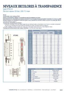 thumbnail of KLINGER INDICATEURS DE NIVEAU-fiche technique-niveaux vapeur bicolores 1