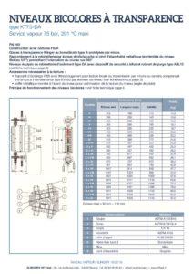 thumbnail of KLINGER INDICATEURS DE NIVEAU-fiche technique-niveaux vapeur bicolores 2