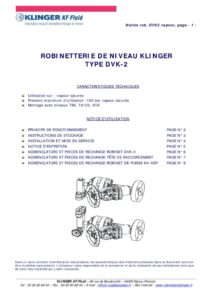 thumbnail of KLINGER INDICATEURS DE NIVEAU-insttruction de montage 13