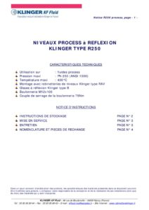 thumbnail of KLINGER INDICATEURS DE NIVEAU-insttruction de montage-application process 18