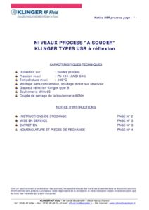 thumbnail of KLINGER INDICATEURS DE NIVEAU-insttruction de montage-application process 20