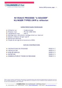 thumbnail of KLINGER INDICATEURS DE NIVEAU-insttruction de montage-application process 21