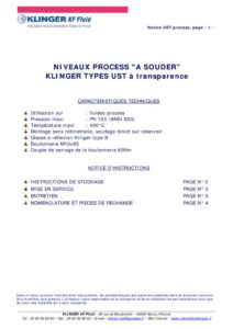 thumbnail of KLINGER INDICATEURS DE NIVEAU-insttruction de montage-application process 27